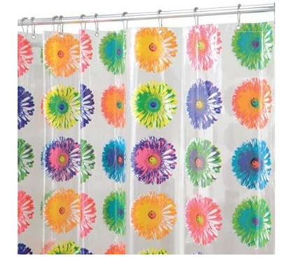 Bloom Painted Flower Shower Curtain Dorm Essentials