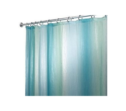 Dorm Supply - Ombre Shimmer Shower Curtain - Blue & Green