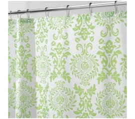 Damask Lime Dorm Shower Curtain Dorm Essentials Must Have Dorm Items