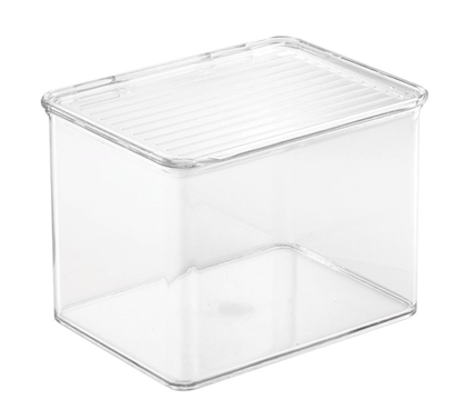 Clear Dorm Organizer with Lid - Medium