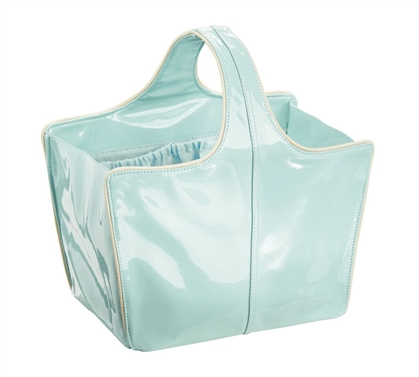Dorm Shower Tote Medium - Mint and Gold