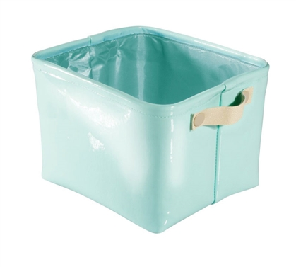 Dorm Organizer Tote Medium - Mint and Gold