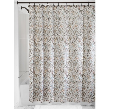 Butterfly Fabric Shower Curtain - Taupe Dorm Essentials Must Have Dorm Items