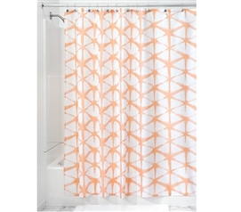 Diamond Batik Fabric Shower Curtain - Melon Dorm Essentials Dorm Room Decor
