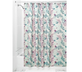 Josie Fabric Shower Curtain - Mint/Lavender Dorm Essentials Dorm Room Decor