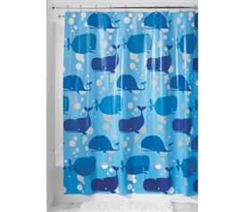 Moby Blue Shower Curtain Must Have Dorm Items Dorm Shower Curtains