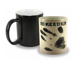 Stolen Mug - Reveals Fingerprints - Cool Item For College