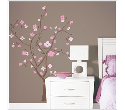 Beautiful College Supplies - Spring Blossom Tree - Peel N Stick Dorm Decor