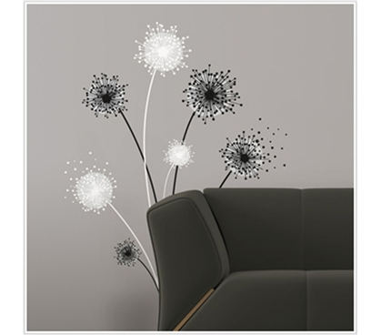 Natures Favorite - Graphic Dandelion - Peel N Stick Dorm Room Decor