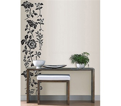 Adhesive Sticks Right On - Brocade Vine Style - Peel N Stick Decor - Cool Dorm Wall Decorations