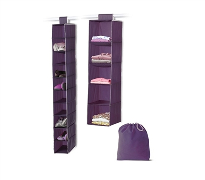 3-Piece College Closet Set - Eggplant - Keep Your Dorm Room Clean And Organized