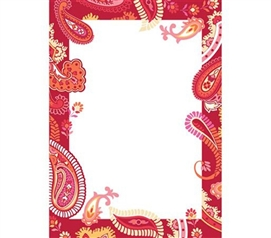 Red Paisley Dry Erase - Peel N Stick College Wall Accessory