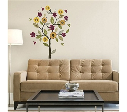 Make Dorm Room Pretty - Twig & Tree Decor - Peel N Stick - Add Some Fun