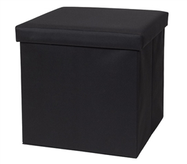 When You Need It - Fold N Store Collapsible Ottoman - Black only