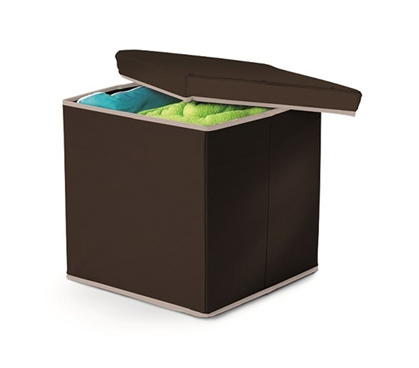Dorm Storage Item - Storage Ottoman - Black - Useful Supply For College