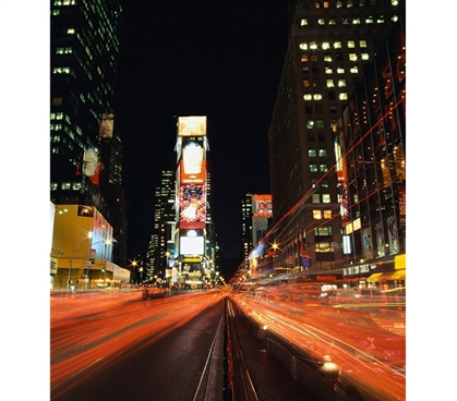 Speed of Life Times Square Wall Art - Peel N Stick Item For College Students