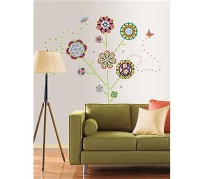 Flower Pop - Peel N Stick Dorm Decor College Decorating Options