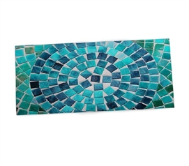 Teal Circular Tile College Desk Mat Dorm Necessities Dorm Room Decor