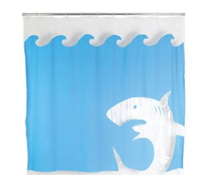 Jaws Attack Shower Curtain
