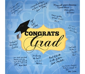 Canvas Kudos - Signable Wall Canvas - Graduation Plaque Design