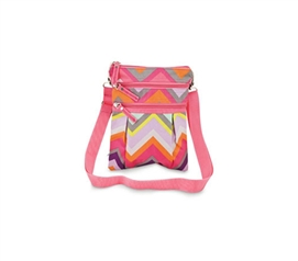 Great ID Case - Chevron Crossbody Bag - Adds Fashion Too