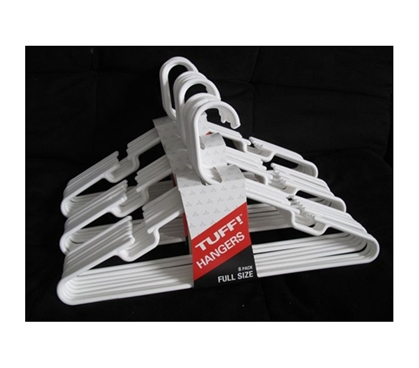 Keep Clothes Off The Ground - Classic White Hangers 24 Pack - Necessary For College Closets