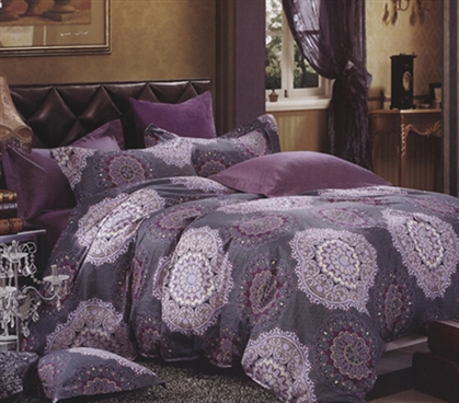 Tyrian Purple Twin XL Comforter Set College Dorm Bedding Twin XL College Comforter