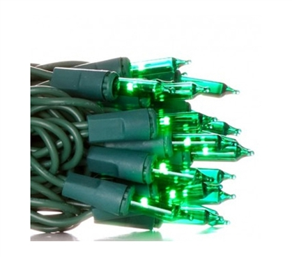 Mini Dorm Lights - Green - Green Wire