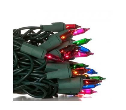 Mini Dorm Lights Multi Color Green Wire