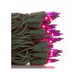 Mini Dorm Lights - Purple - Green Wire