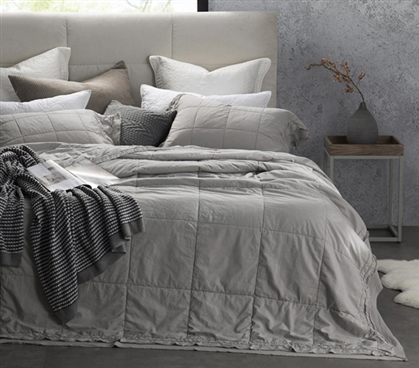 Leixoes Textura - 200TC Percale Stone Wash Twin XL Quilt