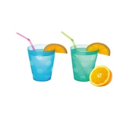 Tumblers (set of 2) - Dorm Room Cups College Kitchen Necessities