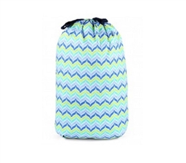 Zig Zag Blue - College Laundry Bag Dorm Essentials College Supplies
