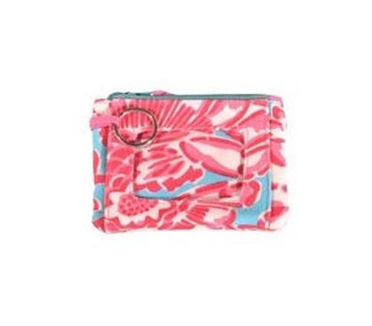 Spring Bloom Aqua Pink Student ID Case