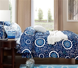 Aqua Notes Twin XL Comforter Dorm Bedding