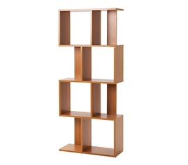 Yak About It Modern Floor Bookshelf - Beech
