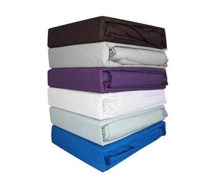 College Ave 100% Cotton Twin XL Sheets - 6 Colors Available - Sheets Are Essential Dorm Supplies!