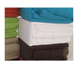 Comfy Bedding Essentials - College Jersey Knit Twin XL Sheets - Pure White