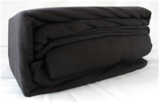College Jersey Knit Twin XL Sheets - Super Comfortable Black Cotton Twin Sheets