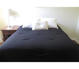 Jersey Knit Twin XL College Comforter (100% Cotton) - Black - Feels Like A Soft T-shirt