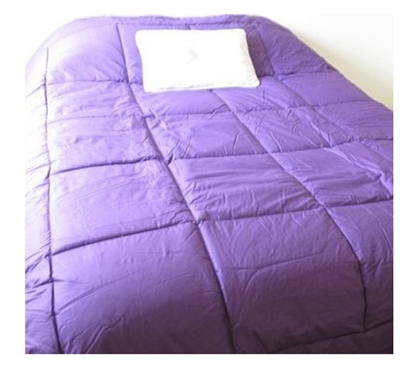 College Ave 100% Cotton Twin XL Comforter - True Purple - Perfect Twin XL Dorm Bedding