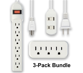 All In One Power Strip Value Pack Must Have Dorm Room Gadgets