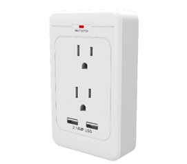 Surge Pro 2 Outlet Surge Adapter With 2 USB Must Have Dorm Room Gadgets Dorm Essentials
