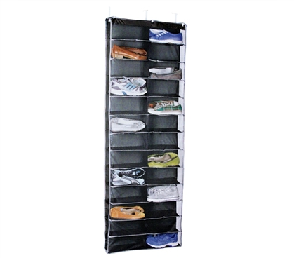 Every College Dorm Needs One - Over Door 26 Pair Shoe Holder - Black