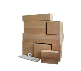 Shipping to College (or Home) - UPS Ship Labels & Box Kit - Don't Jam A Trunk Full, Just Ship!