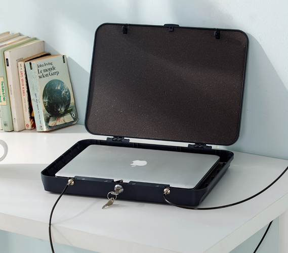 Laptop Safe Keeps Your Personal Computer Safe And Secure While Away From Your College Dorm
