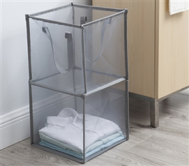Twist Flat Collapsible Hamper - Gray