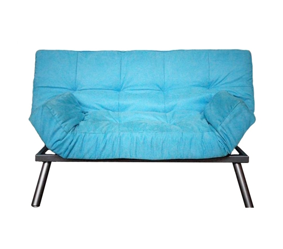 The College Cozy Sofa Mini Futon Aqua