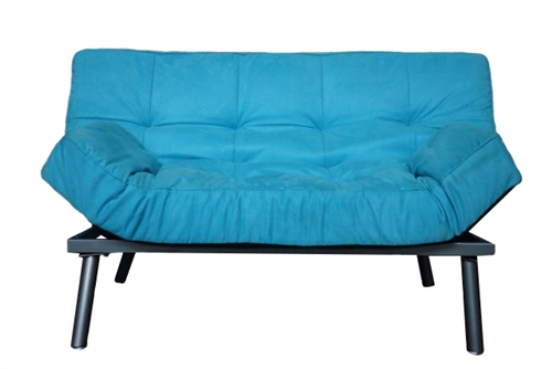 The College Cozy Sofa Mini Futon Aqua