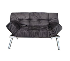 The College Cozy Sofa Mini-Futon Black Dorm Furniture